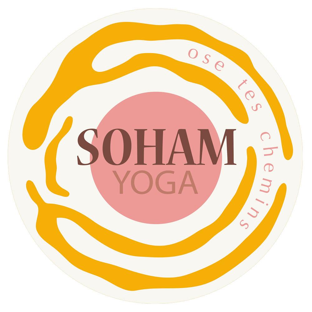 Logo rond orange shama yoga